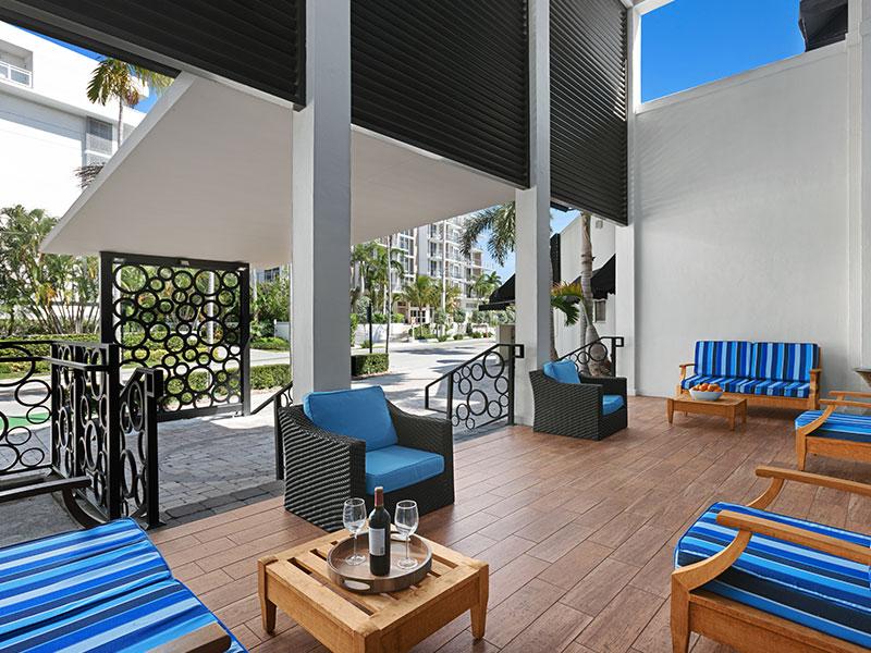 the landon miami hotel lobby area bay harbor islands